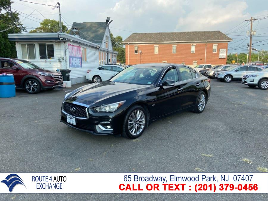Used INFINITI Q50 2.0t LUXE AWD 2018 | Route 4 Auto Exchange. Elmwood Park, New Jersey