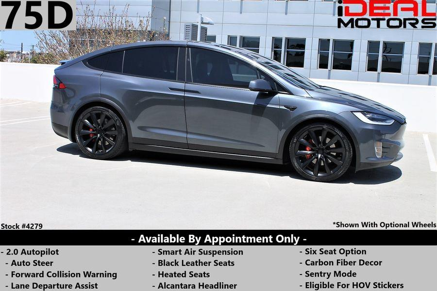 Used Tesla Model x 75D Sport Utility 4D 2018   Ideal Motors. Costa Mesa, California