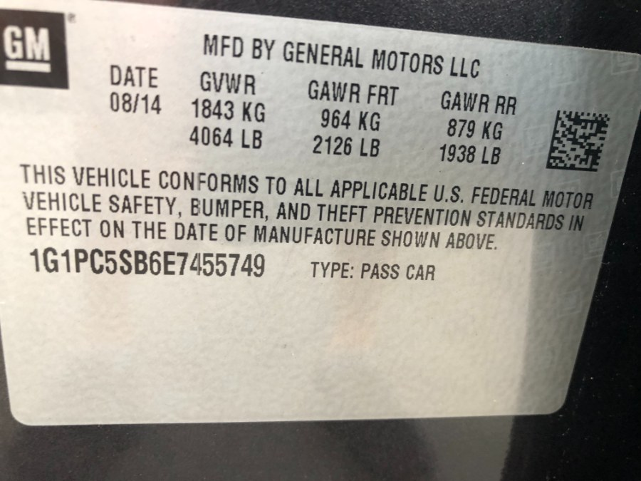 Used Chevrolet Cruze 4dr Sdn Auto 1LT 2014   Bristol Auto Center LLC. Bristol, Connecticut