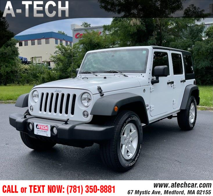Used Jeep Wrangler Unlimited 4WD 4dr Sport 2016 | A-Tech. Medford, Massachusetts