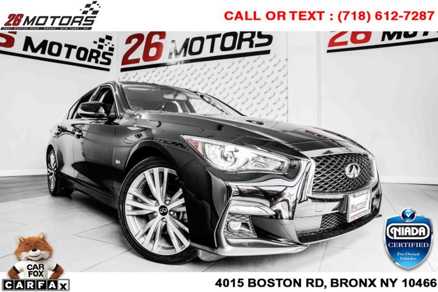 Used INFINITI Q50 3.0t LUXE AWD 2019   26 Motors Corp. Bronx, New York