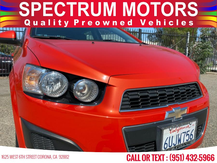 Used Chevrolet Sonic 5dr HB LT 2LT 2012 | Spectrum Motors. Corona, California