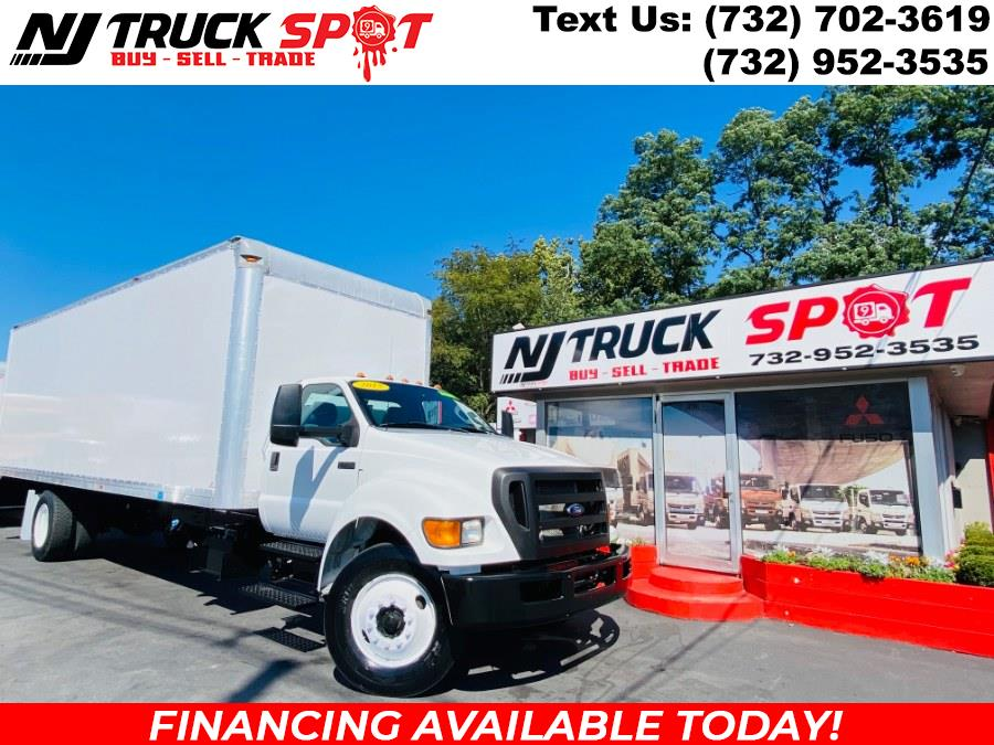 2015 Ford Super Duty F-750 Straight Frame 26 FEET DRY BOX + CUMMINS ENGINE + RAMP + NO CDL, available for sale in South Amboy, NJ