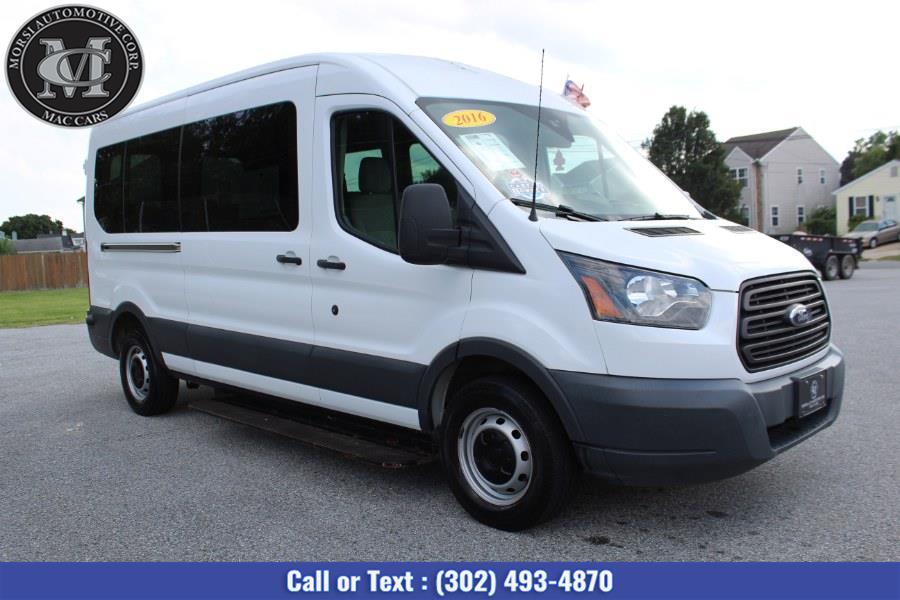 "Used Ford Transit Passenger Van T-250 148"" Med Rf 9000 GVWR Sliding RH Dr 2016 | Morsi Automotive Corp. New Castle, Delaware"