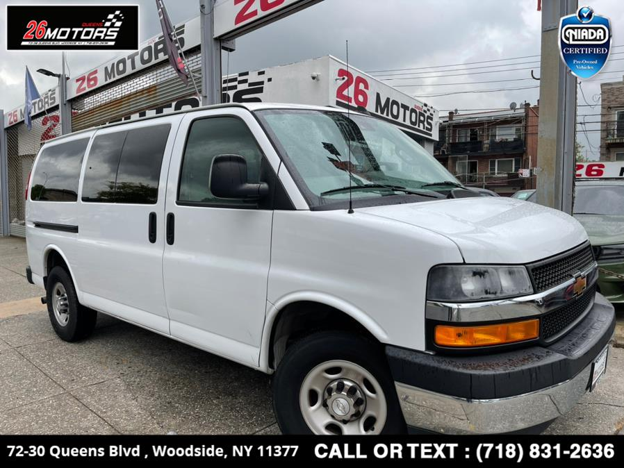 "Used Chevrolet Express Passenger RWD 3500 135"" LT 2019   26 Motors Queens. Woodside, New York"