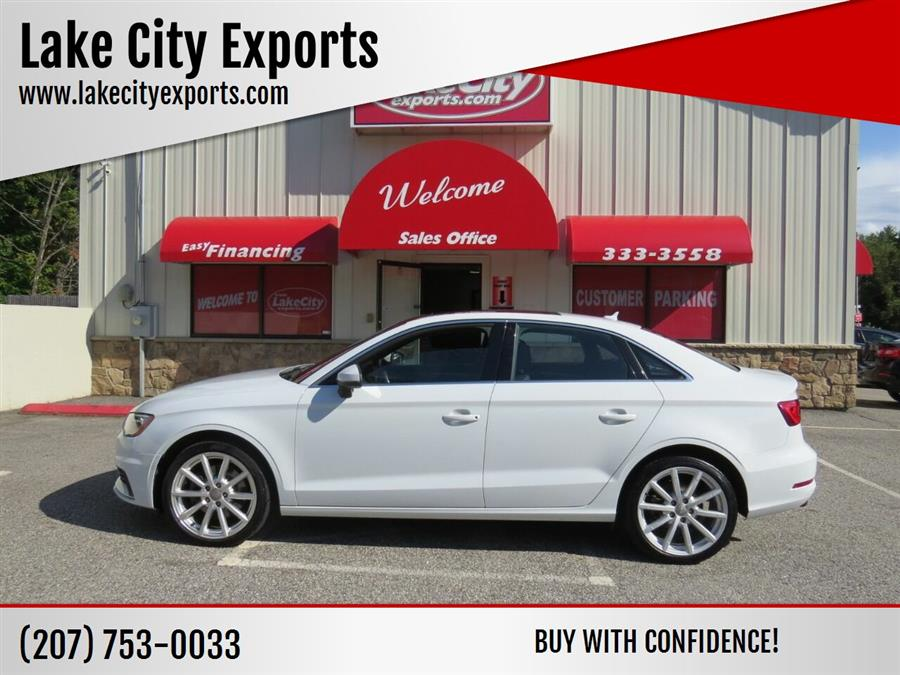 Used Audi A3 2.0T quattro Premium Plus AWD 4dr Sedan 2015 | Lake City Exports Inc. Auburn, Maine