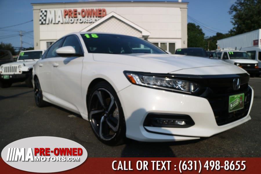 Used Honda Accord Sedan Sport 1.5T CVT 2018 | M & A Motors. Huntington, New York