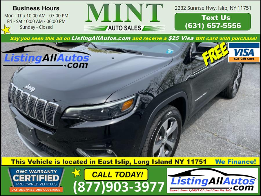 Used 2019 Jeep Cherokee in Patchogue, New York | www.ListingAllAutos.com. Patchogue, New York