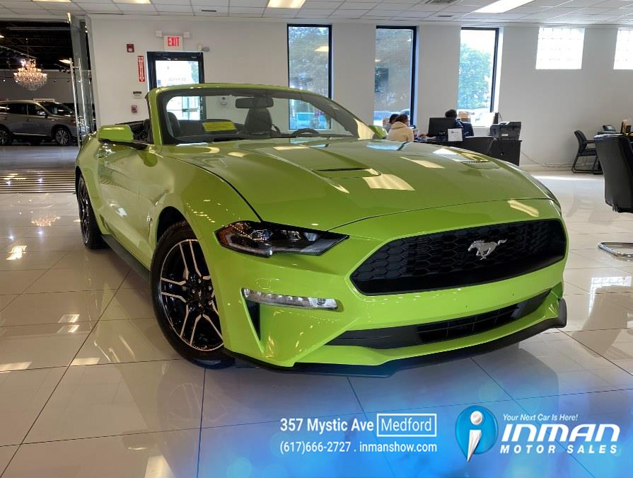 2020 Ford Mustang EcoBoost Premium Convertible, available for sale in Medford, MA