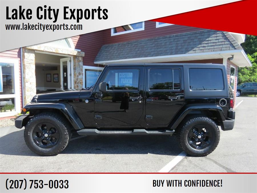 2014 Jeep Wrangler Unlimited Sahara 4x4 4dr SUV, available for sale in Auburn, ME