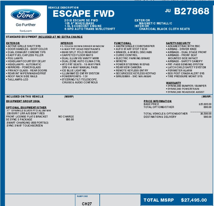 2018 Ford Escape SE FWD, available for sale in Great Neck, NY