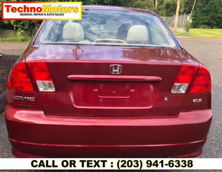 Used Honda Civic Sdn EX AT 2005   Techno Motors . Danbury , Connecticut