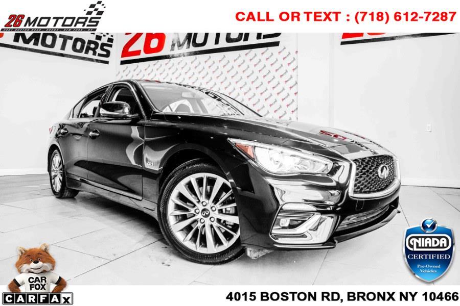 Used INFINITI Q50 2.0t LUXE AWD 2018   26 Motors Corp. Bronx, New York