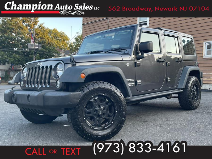 Used 2017 Jeep Wrangler Unlimited in Newark, New Jersey | Champion Auto Sales. Newark, New Jersey