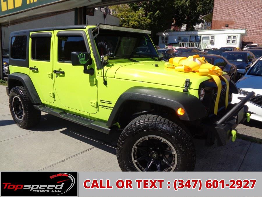 Used Jeep Wrangler Unlimited 4WD 2016 | Top Speed Motors LLC. Jamaica, New York