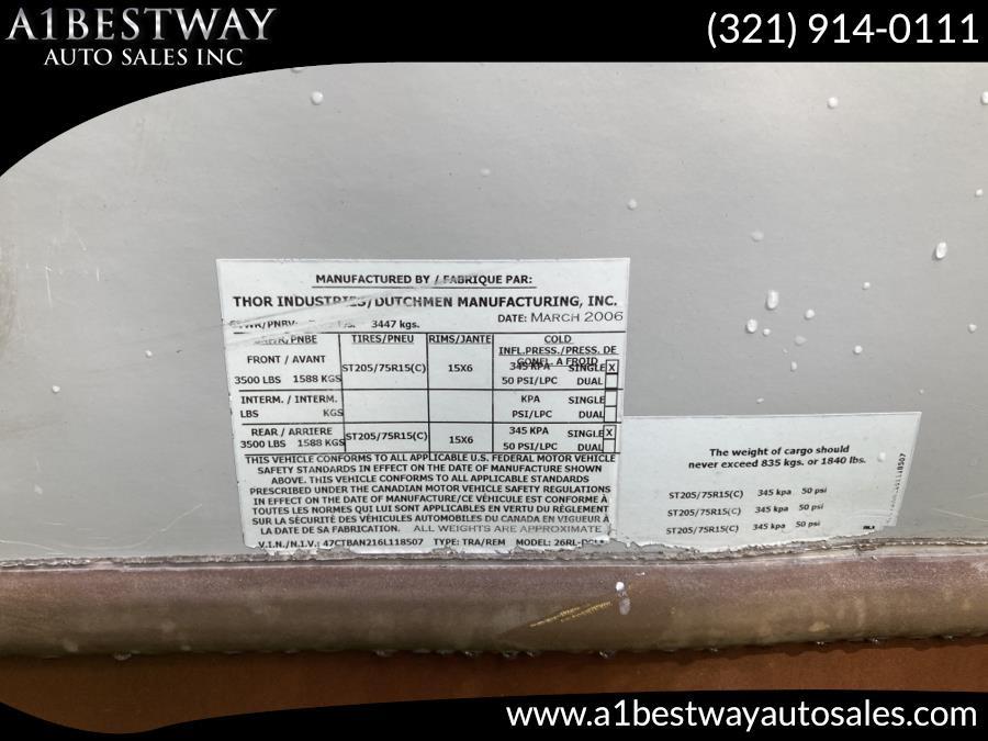 Used ADIRONDACK AD27 RL BUMPER PULL 2006   A1 Bestway Auto Sales Inc.. Melbourne , Florida