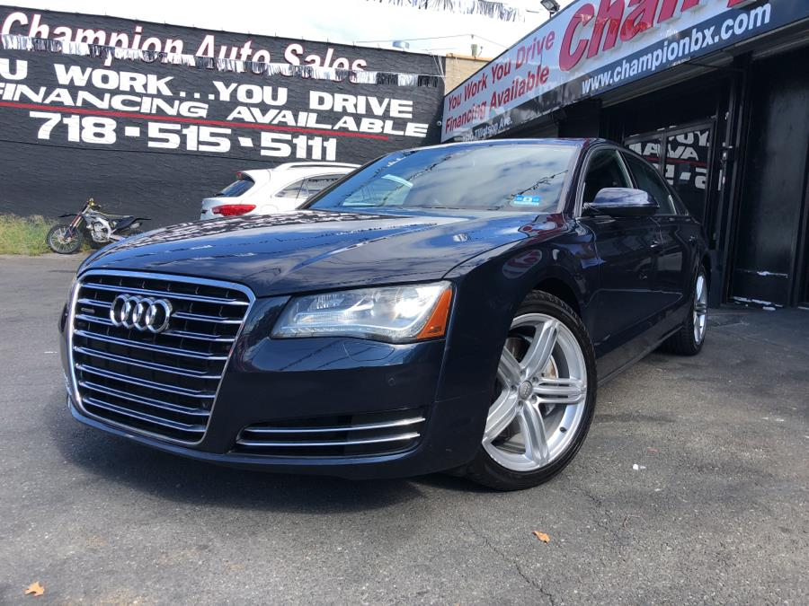 Used 2013 Audi A8 L in Bronx, New York | Champion Auto Sales Of The Bronx. Bronx, New York