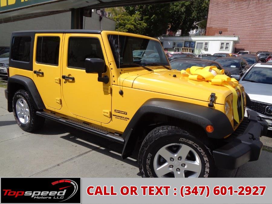Used Jeep Wrangler Unlimited 4WD Sport 2015   Top Speed Motors LLC. Jamaica, New York