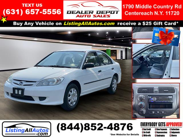 Used Honda Civic 4dr Sdn VP Auto 2004 | www.ListingAllAutos.com. Patchogue, New York