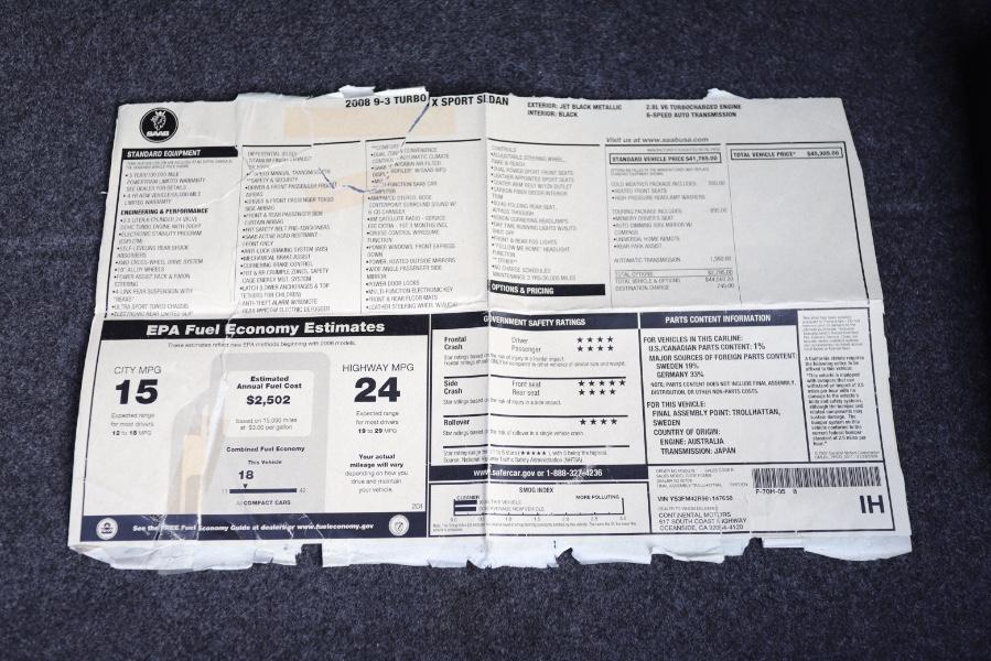 Used Saab 9-3 4dr Sdn TurboX 2008 | Meccanic Shop North Inc. North Salem, New York