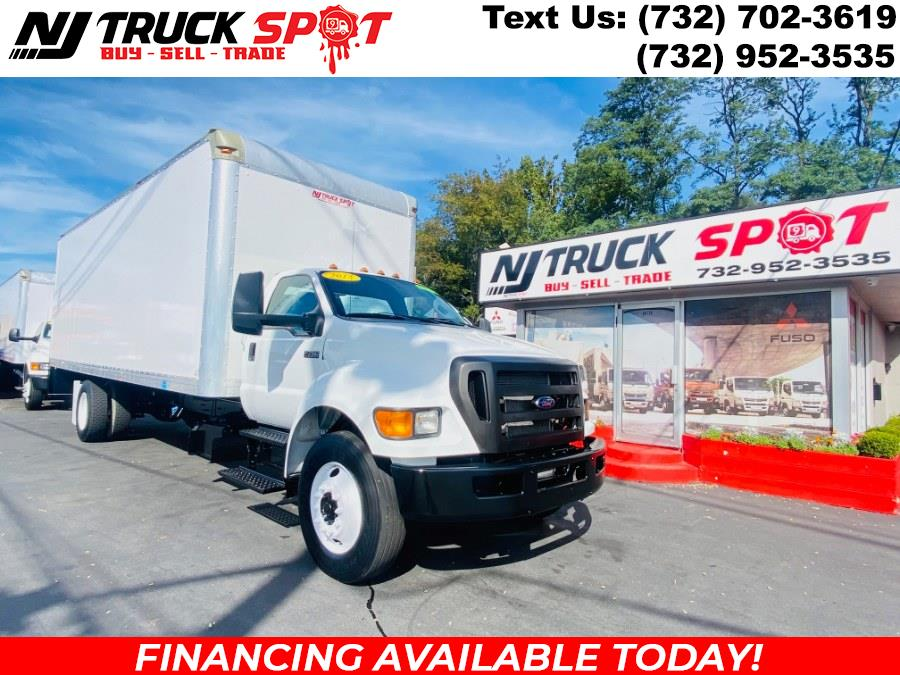 Used Ford Super Duty F-750 Straight Frame 26 FEET DRY BOX + RAMP + NO CDL 2015   NJ Truck Spot. South Amboy, New Jersey