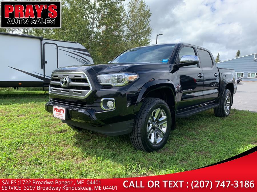 Used Toyota Tacoma Limited Double Cab 5'' Bed V6 4x4 AT (Natl) 2017   Pray's Auto Sales . Bangor , Maine