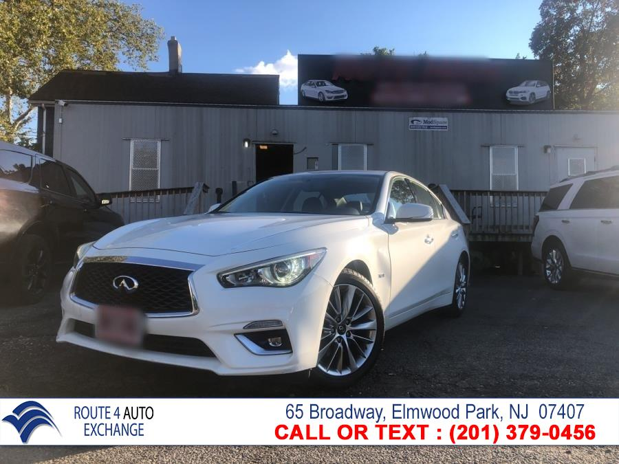 Used INFINITI Q50 3.0t LUXE AWD 2018 | Route 4 Auto Exchange. Elmwood Park, New Jersey