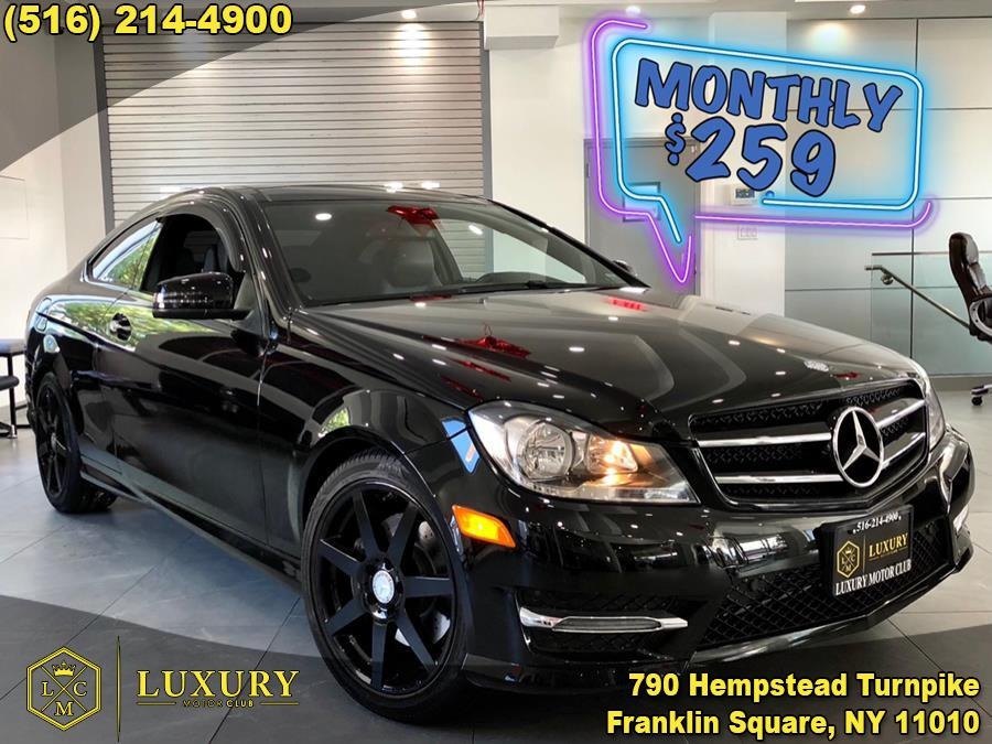 Used Mercedes-Benz C-Class 2dr Cpe C 350 4MATIC 2015 | Luxury Motor Club. Franklin Square, New York