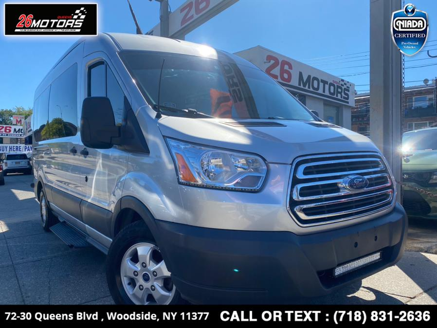 "Used Ford Transit Passenger Wagon T-350 148"" Med Roof XL Sliding RH Dr 2018 | 26 Motors Queens. Woodside, New York"