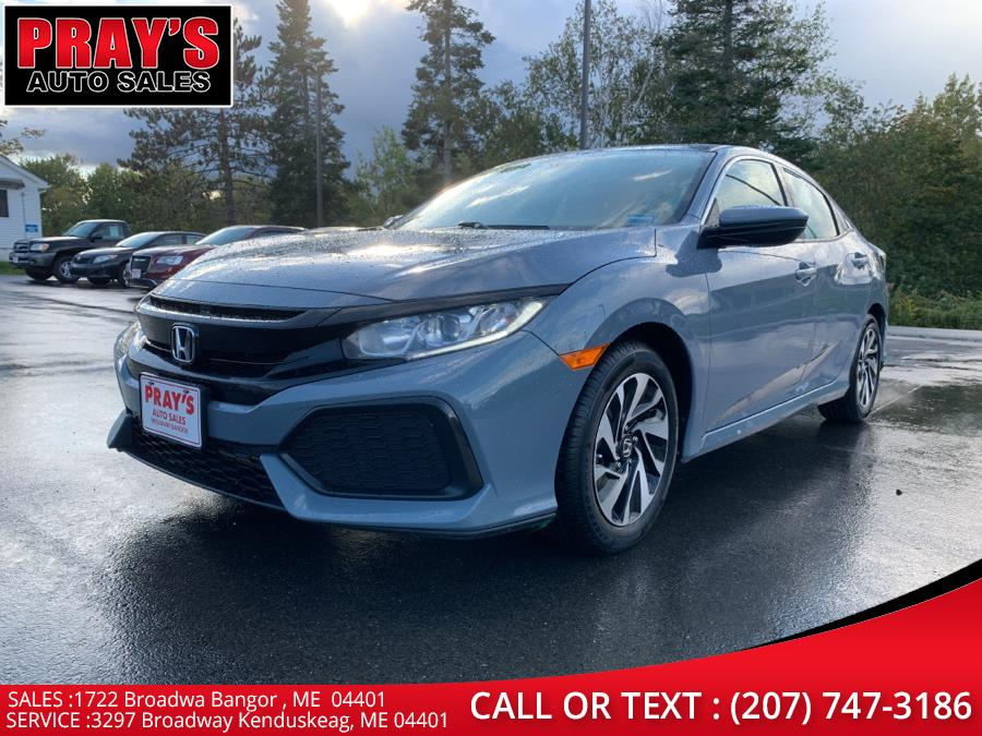 Used Honda Civic Hatchback LX Manual 2018 | Pray's Auto Sales . Bangor , Maine