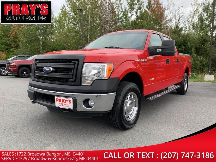 "Used Ford F-150 4WD SuperCrew 145"" XL 2014 | Pray's Auto Sales . Bangor , Maine"
