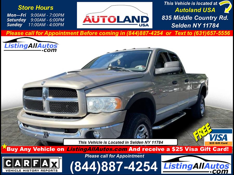 Used 2003 Dodge Ram 2500 in Patchogue, New York   www.ListingAllAutos.com. Patchogue, New York