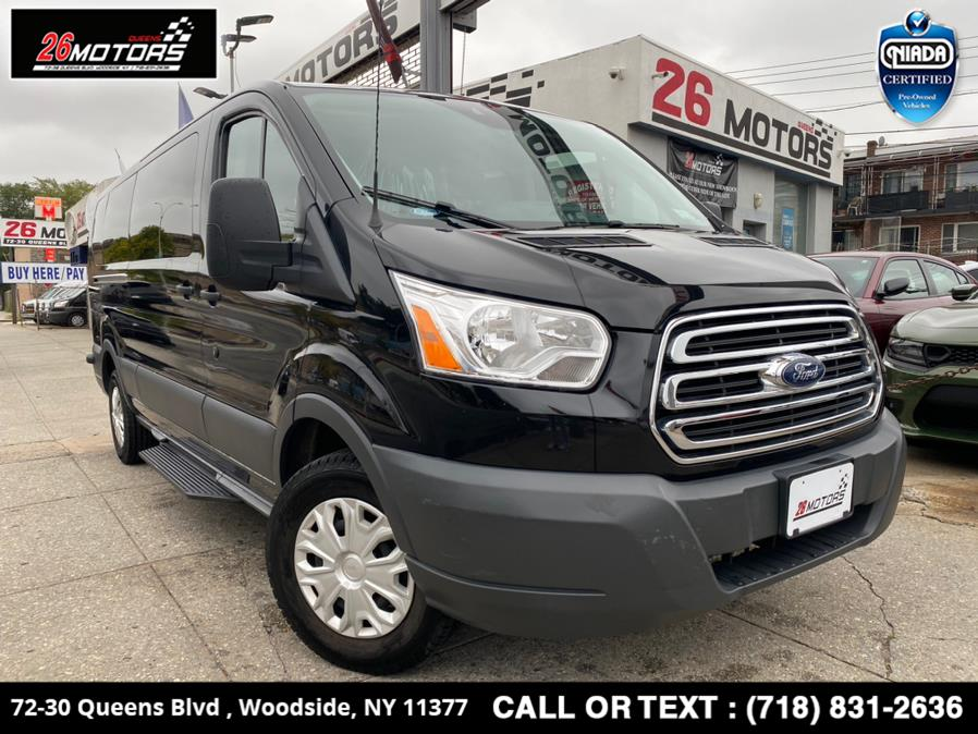 "Used Ford Transit Passenger Wagon T-350 148"" Low Roof XLT Sliding RH Dr 2018   26 Motors Queens. Woodside, New York"