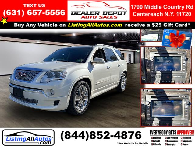 Used 2012 GMC Acadia in Patchogue, New York   www.ListingAllAutos.com. Patchogue, New York
