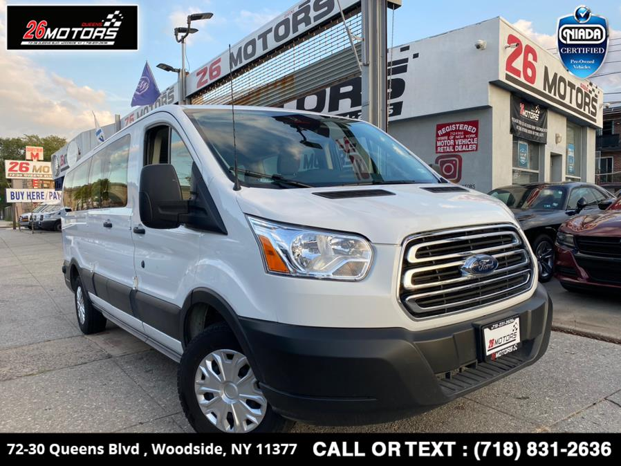 """Used Ford Transit Passenger Wagon T-350 148"""" Low Roof XL Swing-Out RH Dr 2019   26 Motors Queens. Woodside, New York"""