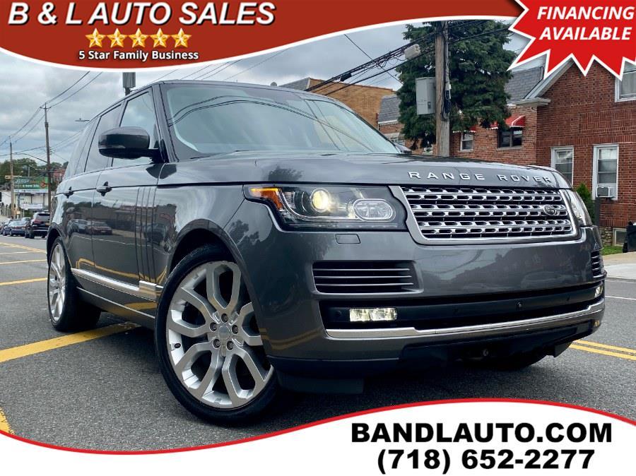 Used 2016 Land Rover Range Rover in Bronx, New York | B & L Auto Sales LLC. Bronx, New York