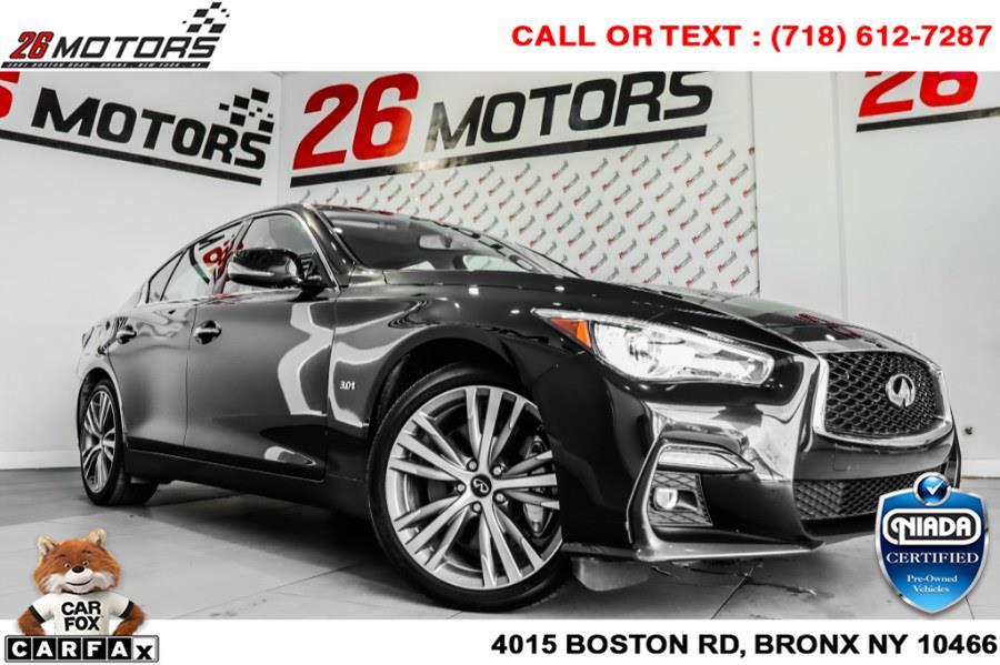 Used INFINITI Q50 3.0t LUXE AWD 2018 | 26 Motors Corp. Bronx, New York