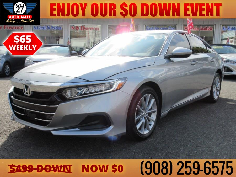 Used 2021 Honda Accord Sedan in Linden, New Jersey   Route 27 Auto Mall. Linden, New Jersey