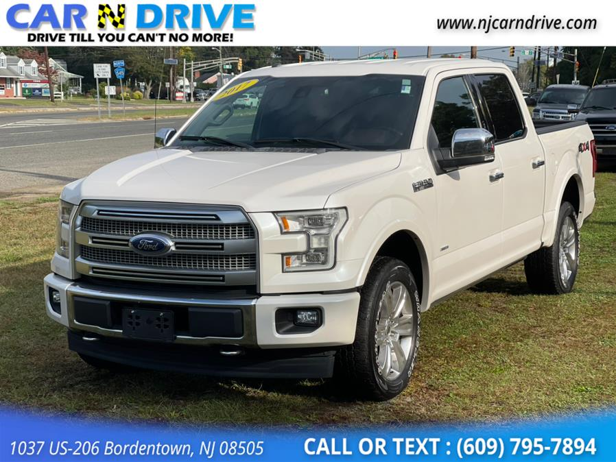 Used Ford F-150 Platinum SuperCrew 5.5-ft. Bed 4WD 2017 | Car N Drive. Bordentown, New Jersey