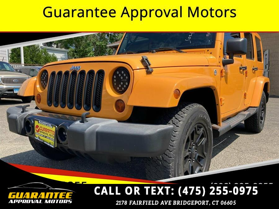 Used Jeep Wrangler Unlimited Sahara 4x4 4dr SUV 2012 | Guarantee Approval Motors. Bridgeport, Connecticut
