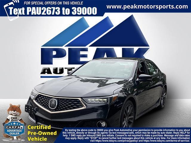 Used Acura TLX 3.5L SH-AWD w/A-SPEC Pkg Red Leather 2018 | Peak Automotive Inc.. Bayshore, New York