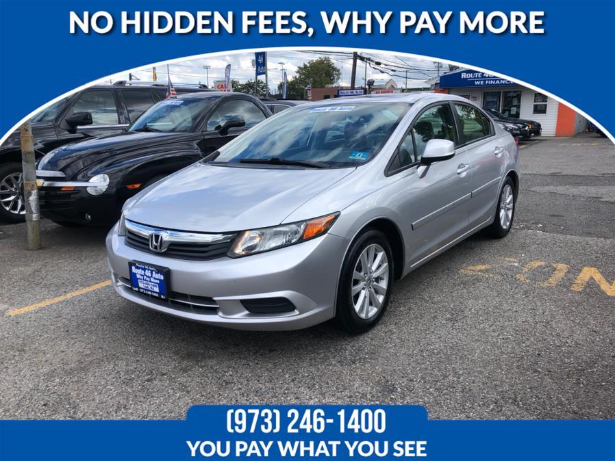 Used 2012 Honda Civic Sdn in Lodi, New Jersey | Route 46 Auto Sales Inc. Lodi, New Jersey