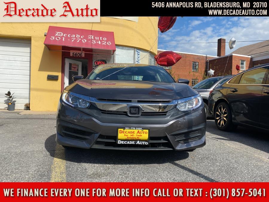 Used Honda Civic Sedan LX CVT 2017   Decade Auto. Bladensburg, Maryland